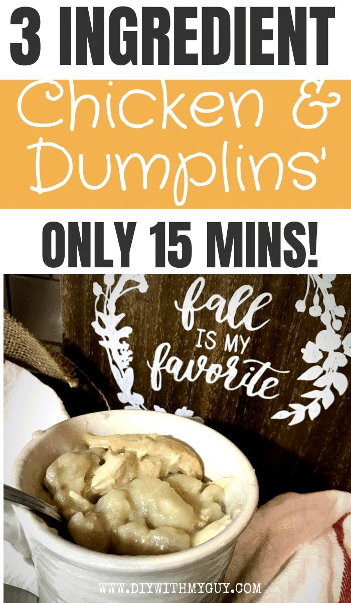 Quick and Easy Chicken and Dumplins