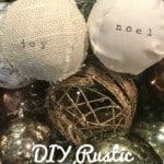 handmade rustic Farmhouse Christmas Ornaments