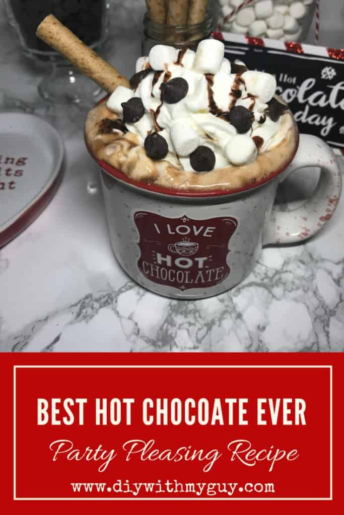 Best hot chocolate recipe made with real chocolate for crowds