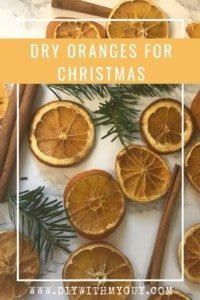How to dry orange slices for Christmas decorations