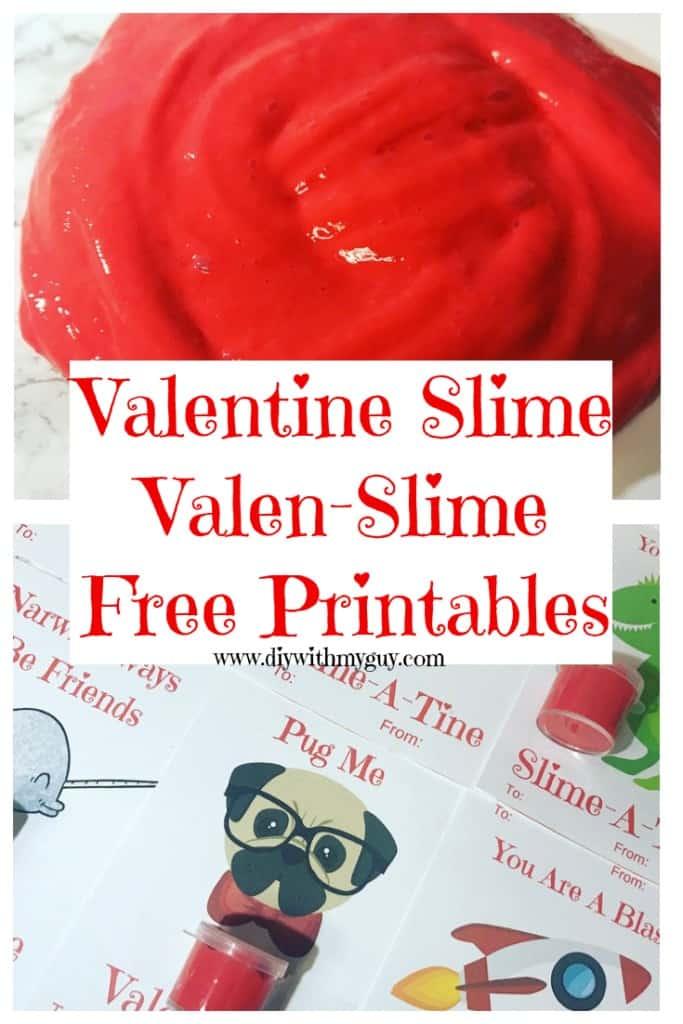 Valentine Slime with Free Valen-Slime Printables