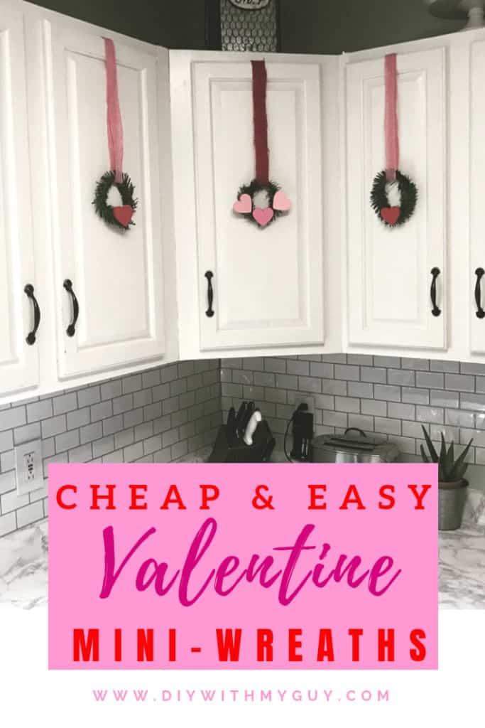 DIY valentine wreath homemade valentine decorations