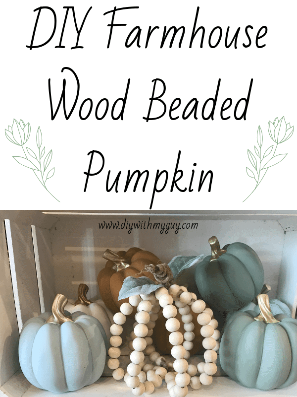 DIY Wood Beaded Farmhouse Pumpkin