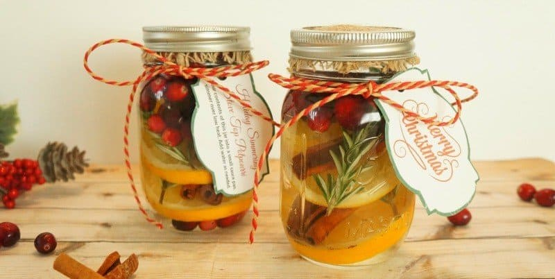 Christmas Potpourri Gift Jars