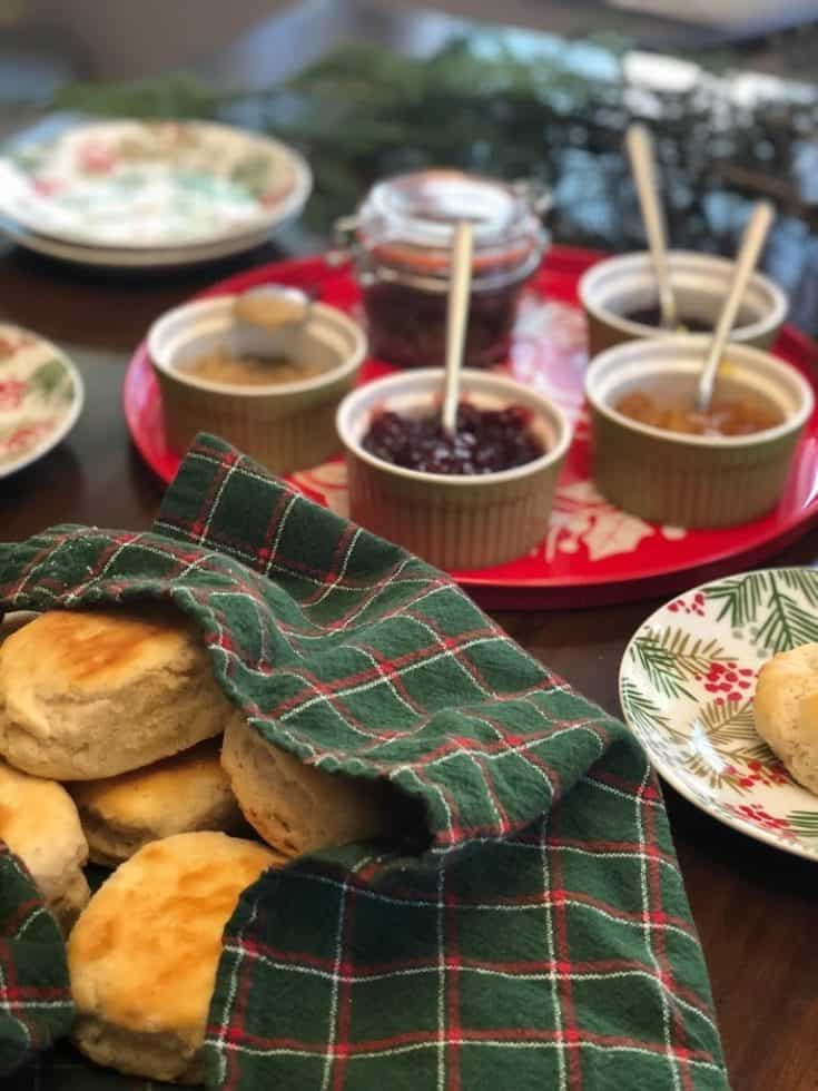 Biscuit Bar for Christmas Morning Brunch