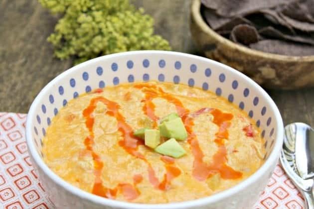 Slow Cooker Buffalo Chicken Soup Recipe