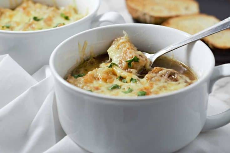 Crockpot French Onion Soup Small Batch Recipe for Two