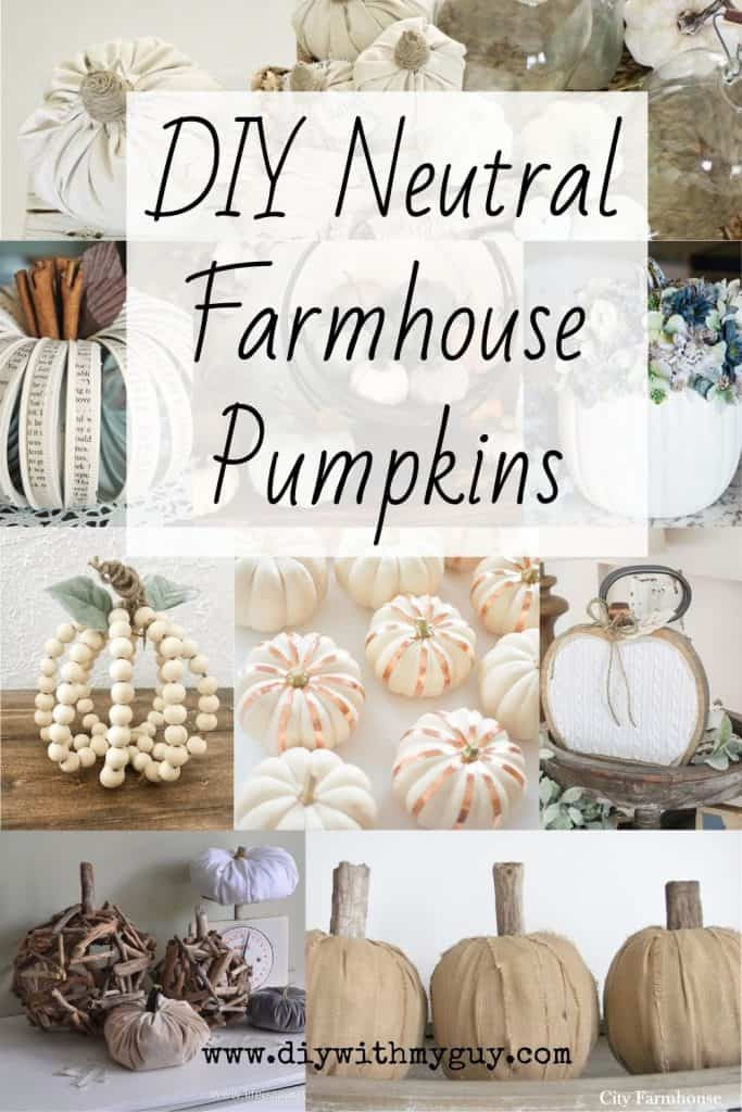 DIY Farmhouse Pumpkins Neutral Fall Decor