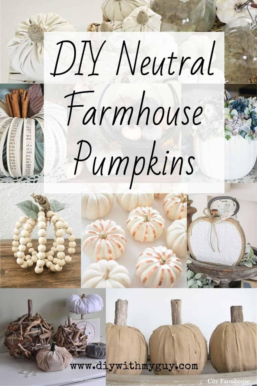 11 Diy Neutral Farmhouse Pumpkins Fall Decor Ideas Diy With My Guy