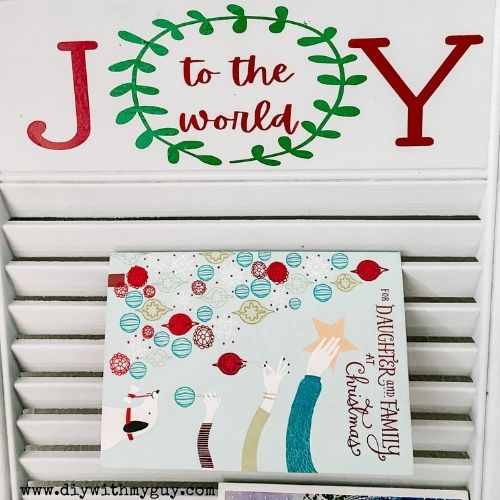 shabby chic Christmas card holder