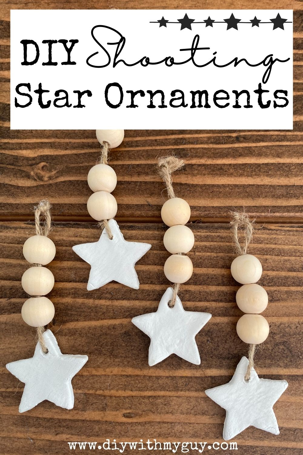 DIY Shooting Star Clay Ornaments