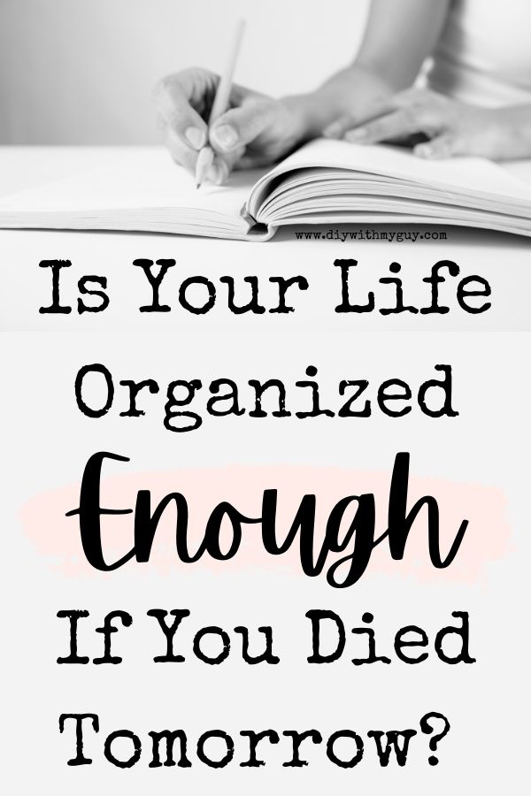 in the event of my death printable organizer